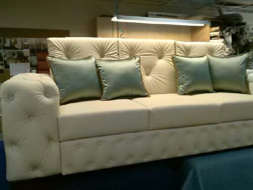 Custom made, All in leather tufted Sofa