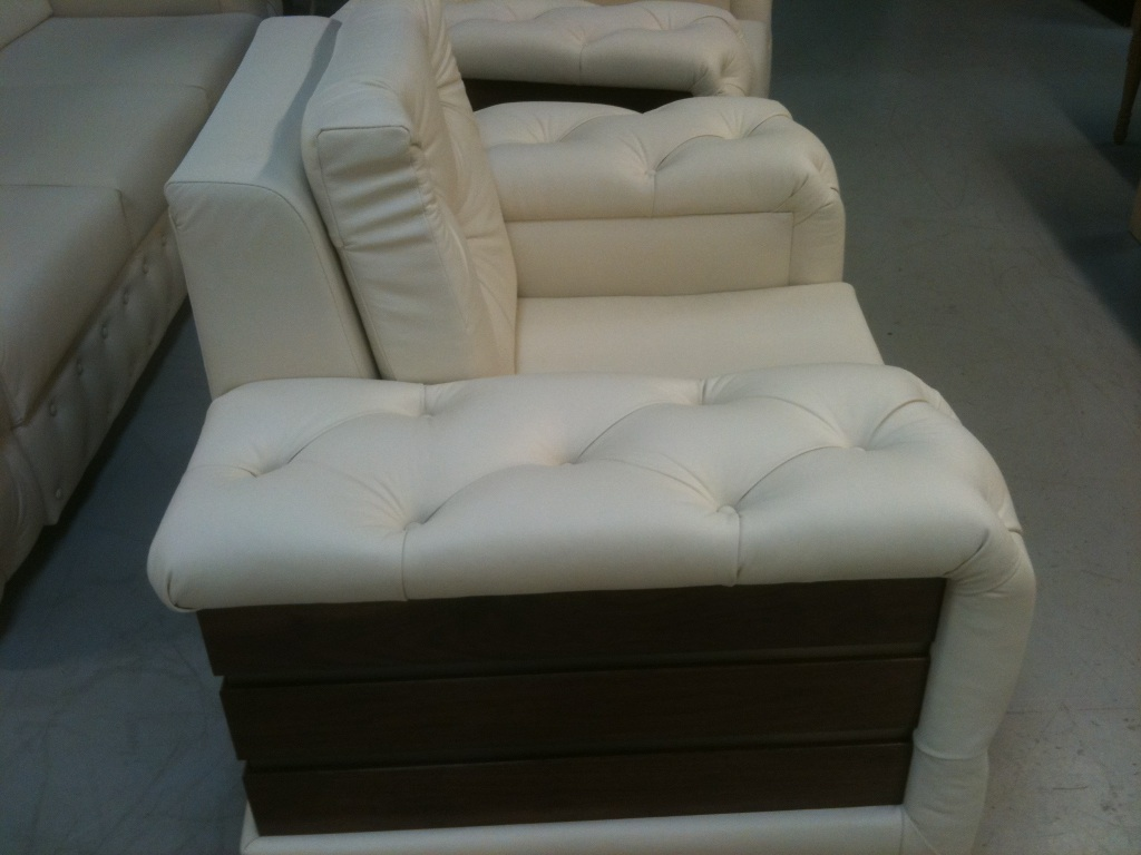 Custom made, tufted living room chairs