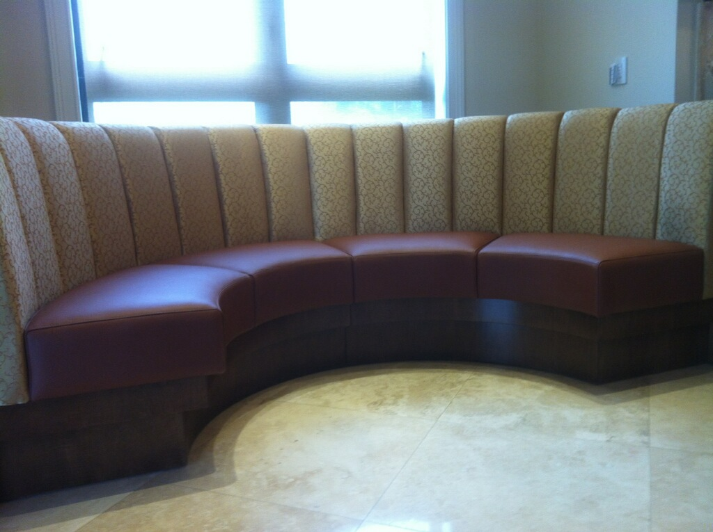 Channelled rounded booth