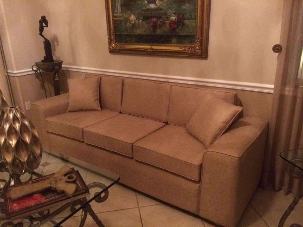 custom made, transitional couch