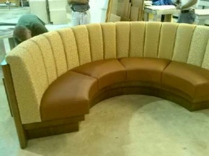 rounded booth in our shop